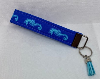 handmade keychain wristlet gifts for her Quilted Key Fob