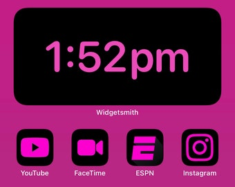 Hot Pink Icons Etsy