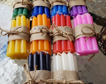 Packs of 10 Colored Spell Candles, 4'' Chime Candles for Spells, Ritual Candle
