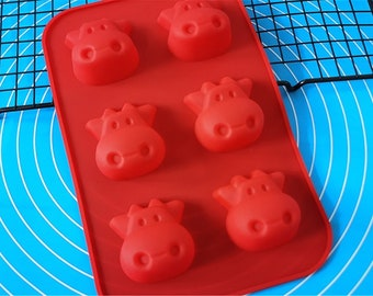 3D Milk Cow Soap Mold Flexible Silicone Mold Candy Chocolate Mold Soap Mold Polymer Clay Mold Resin Mold Baking Tools R1014