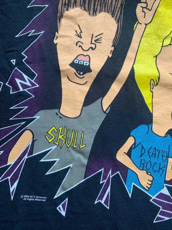 BEAVIS AND BUTTHEAD 1994 Vintage Tshirt / Mtv Car… - image 7