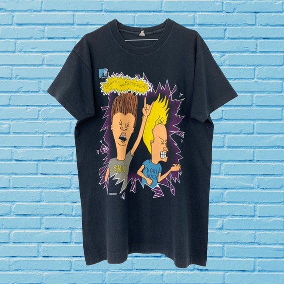BEAVIS AND BUTTHEAD 1994 Vintage Tshirt / Mtv Car… - image 1