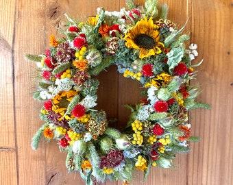 Fall Wreath for Door or Wall, Autumn Decor, Harvest Celebration