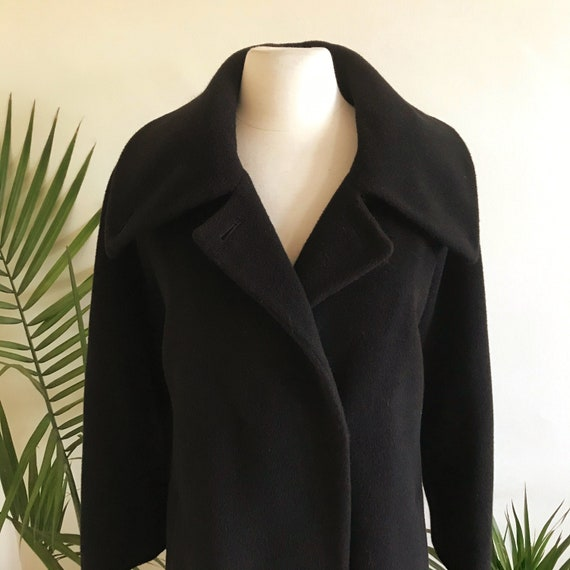 Vintage Black Dramatic Collar Hilary Radley Alpaca