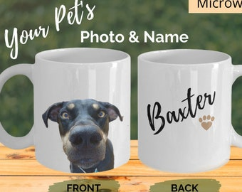 Custom Pet Coffee Mug - Dog Photo Mug - Dog Lover Coffee Mug - Pet Coffee Cup - Cat Photo Mug - Dog Coffee Mug - Personalised Dog Mug Gift