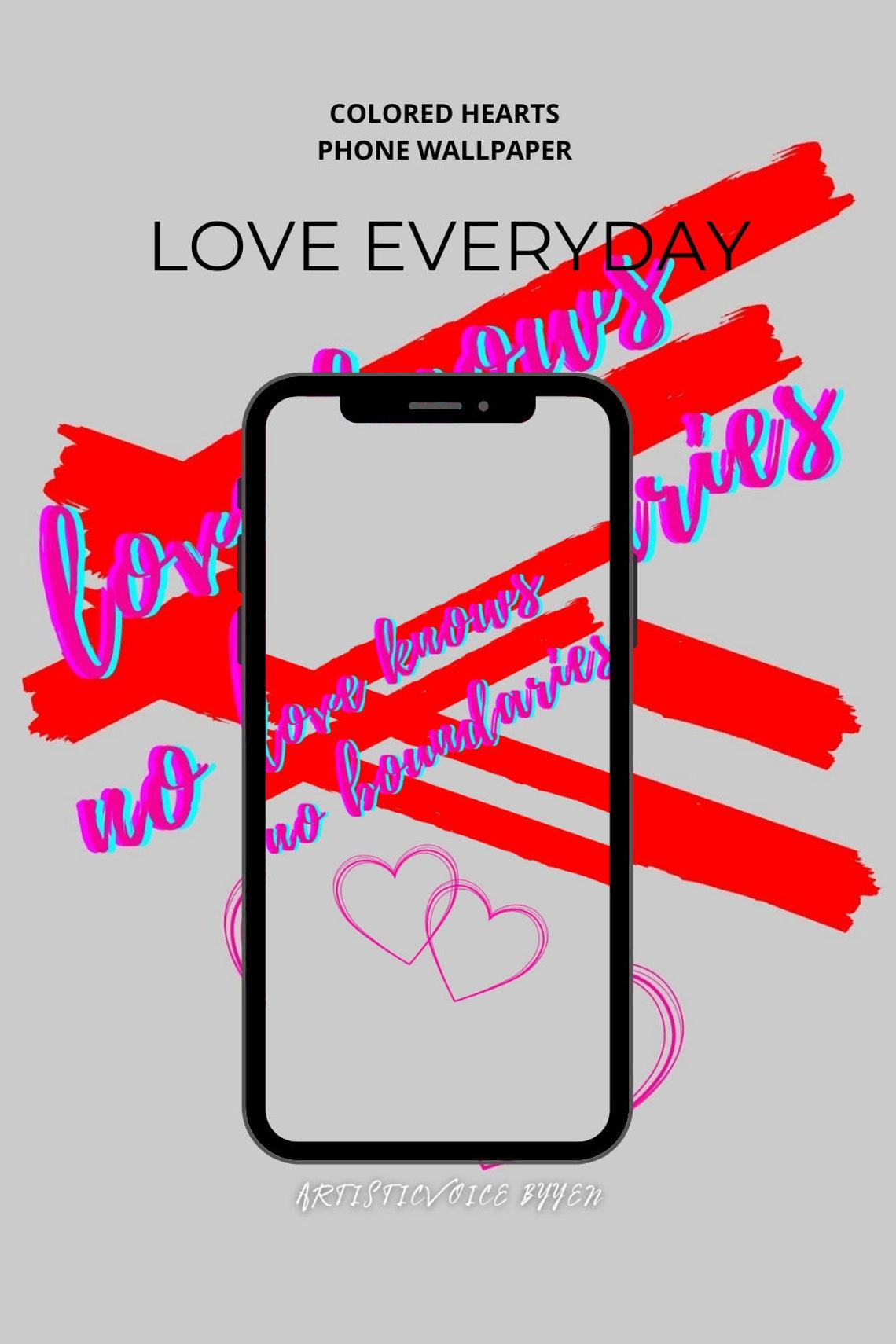 Liebe jeden Tag rosa Telefon Wallpaper. Liebe kennt keine