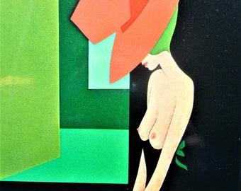 1980 Fashion Poster The Temptress by Amleto Dalla Costa Original Vintage Poster