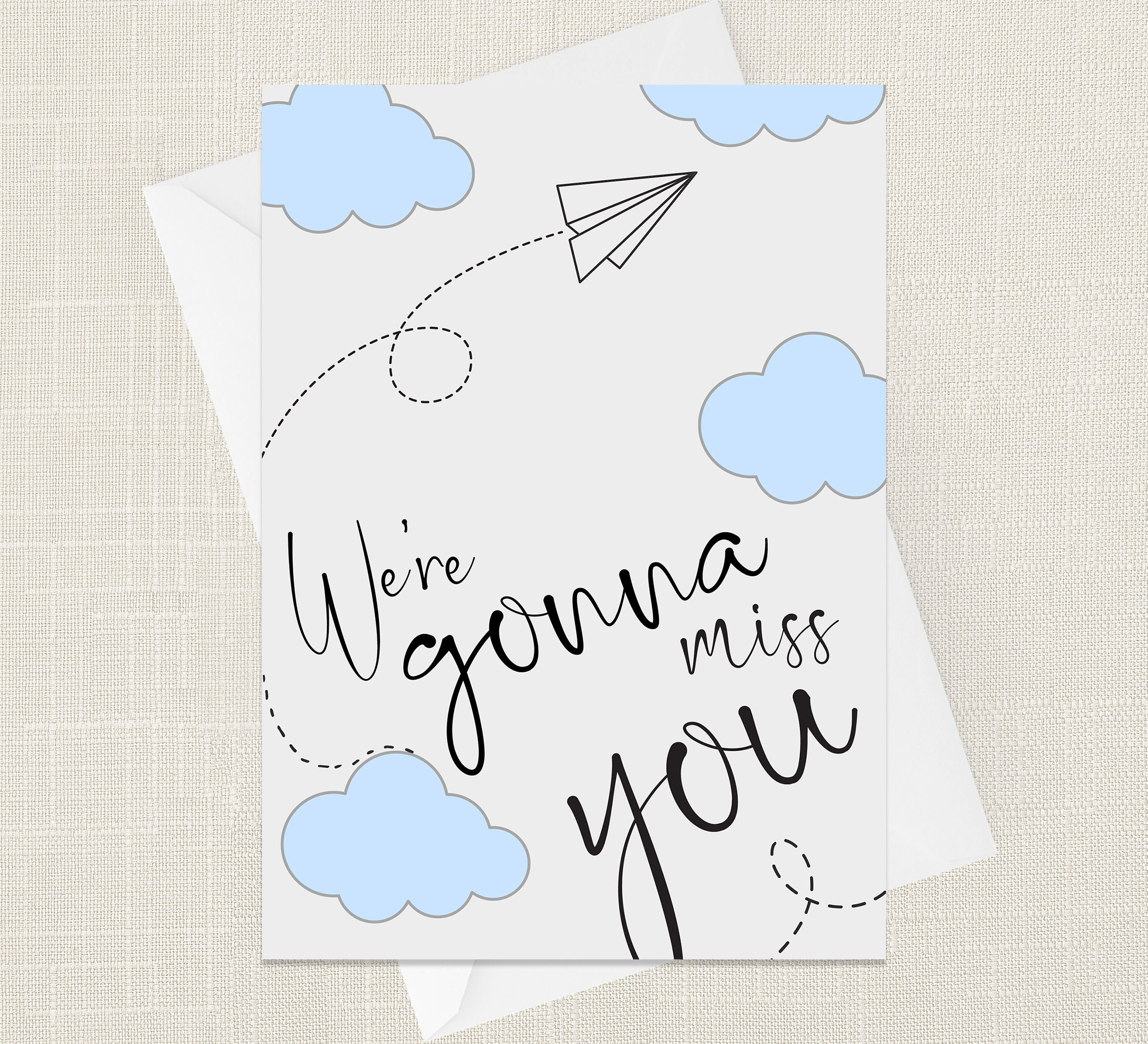 we're gonna miss you greetings card new job retirement  etsy