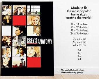 "Greys Anatomy Poster 16/""x24/"""