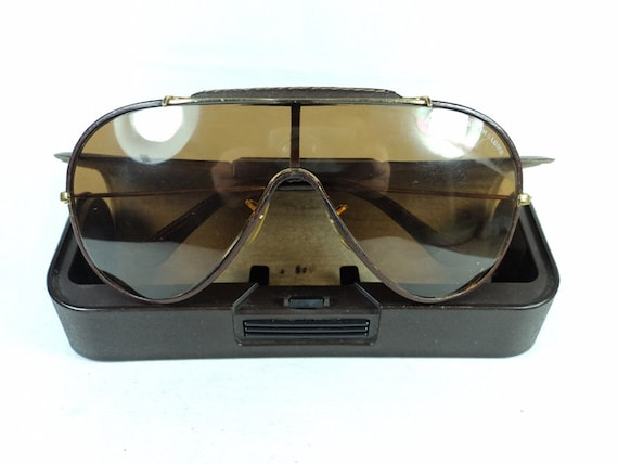 Vintage Rayban Wings Leather Sunglasses (1980's)