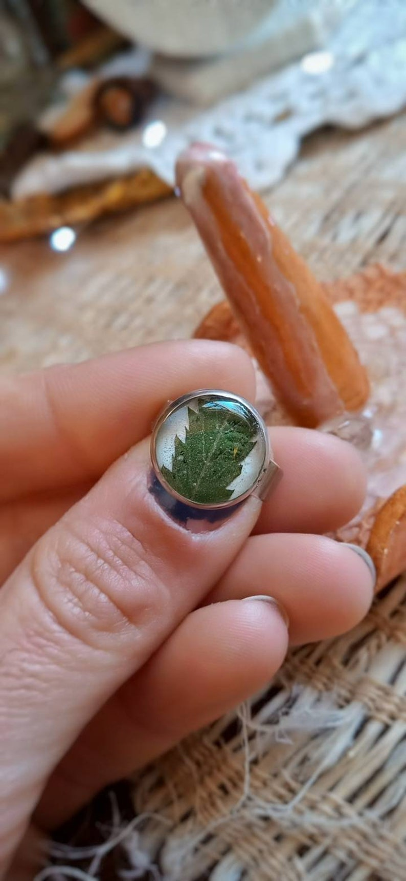 Cannabis stainless steel ring