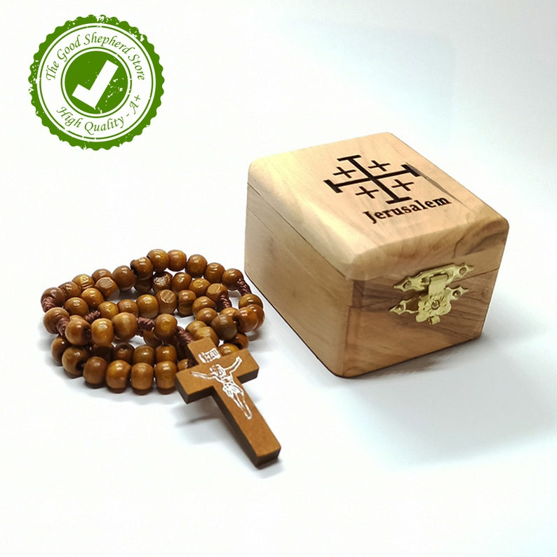 Olive Wood Box  /& Rosary