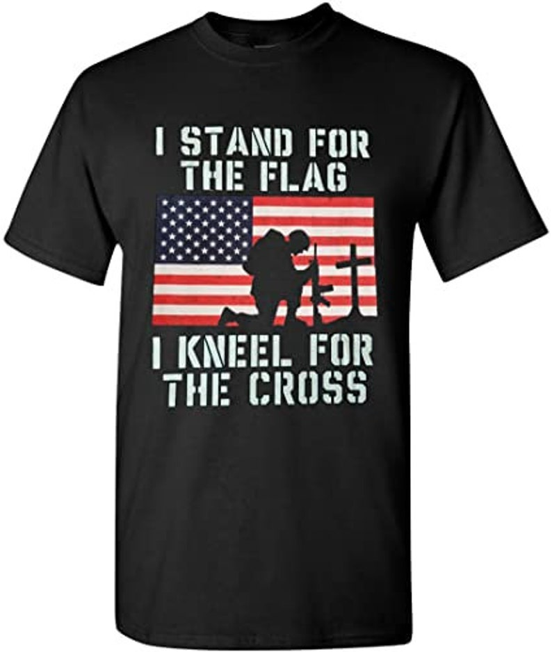 I Stand for The Flag I Kneel for The Cross T-Shirt