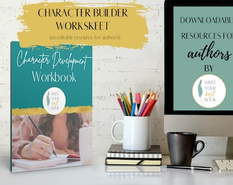 Character Development Workbook - Character Planner - Author Resource - Author Templates and Workbooks
