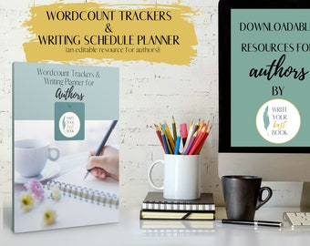 Wordcount Tracker, Scheduling Planner - Author Resource - Author Templates and Workbooks