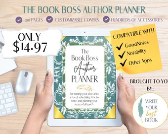 Author Planner - The Book Boss Digital Author Planner - Writing Tool - Writing Resource