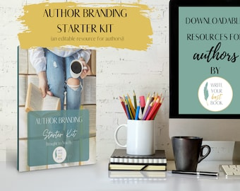 Author Brand Building Starter Kit  - Author Early Marketing Planner - Author Templates and Workbooks