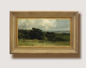 23 Vintage Landscape Countryside Overlook Oil Painting Farmhouse wall decor, Vintage art, printable antique landscape painting