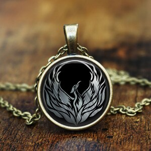 Rise Phoenix Rumi Quote Inspirational Laser Engraved Necklace Gift Choice of Metal