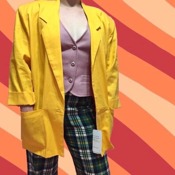 1980s Deadstock Yellow Blazer - image 1