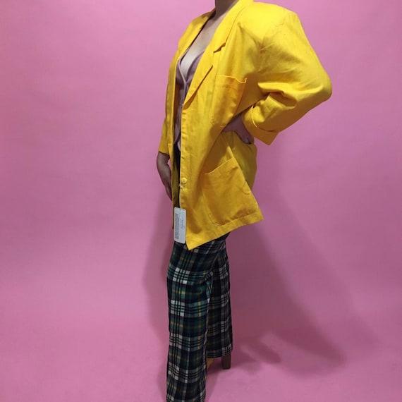 1980s Deadstock Yellow Blazer - image 3