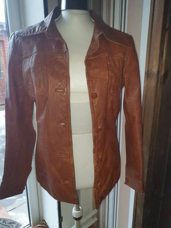 70s 70s Leather Jacket Leather Jacket