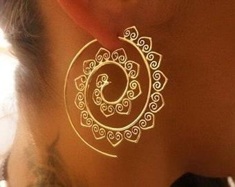 Spiral Earrings Bohemian Rhapsody Silver Spiral Earrings Statement Earrings Festival Jewellery Threader Earrings Boho Style