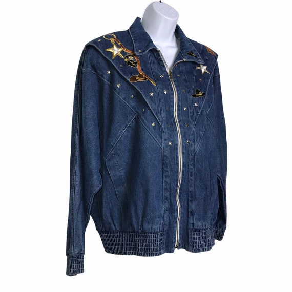 Pado Vintage CottageCore Western Show Jacket M - image 4