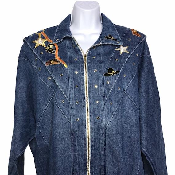 Pado Vintage CottageCore Western Show Jacket M - image 2