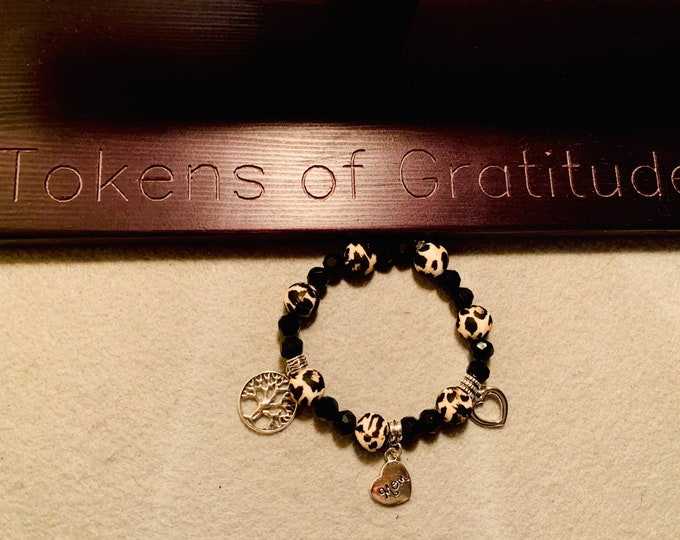 Mothers Day Beaded Bracelet with charms