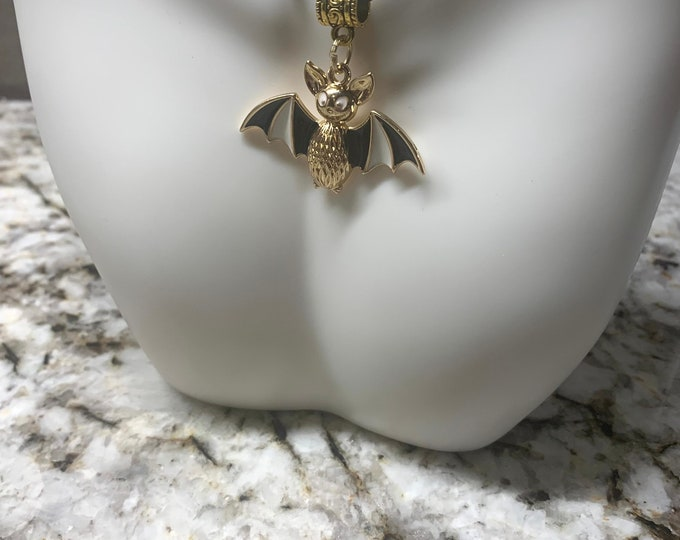 Halloween/Bat Necklace on black cord