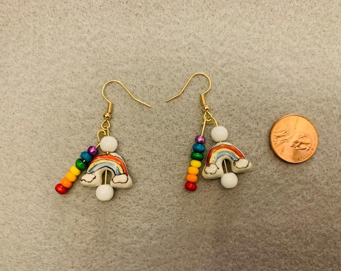 Rainbow Dangle/Drop Earrings (double)