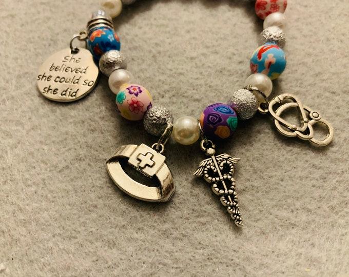 Nurse Appreciation Beaded Bracelet