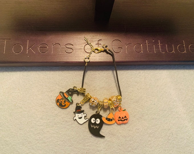Halloween Charm Bracelet with Halloween themed Charms