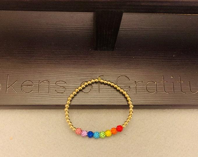 Rhinestone Rainbow Bracelet