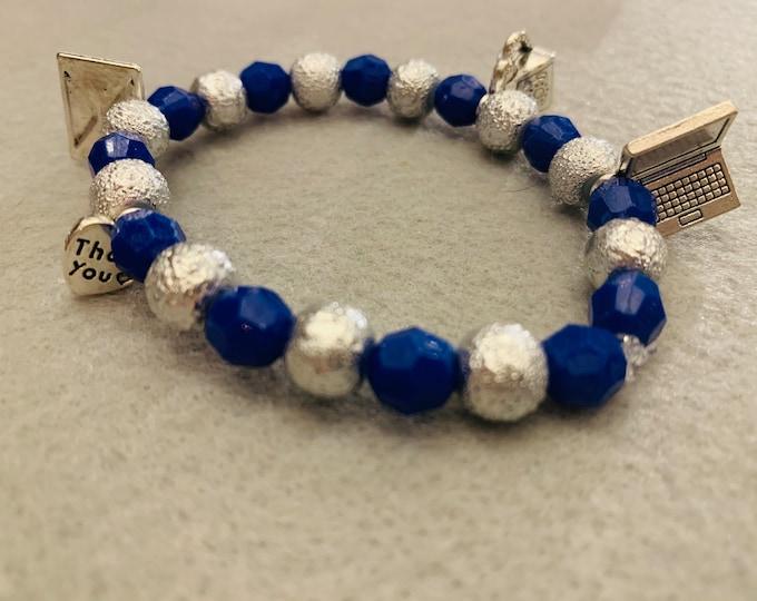 Secretary/ Administrative Assistant Appreciation Beaded Bracelet (any color scheme available )