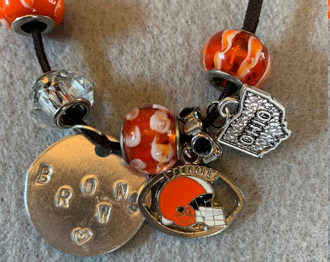Football Bracelet with Charms
