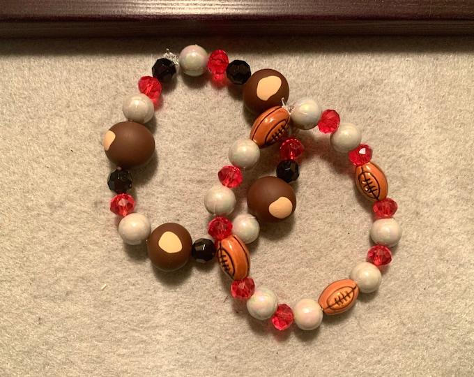Buckeye beaded stretch bracelet set of two