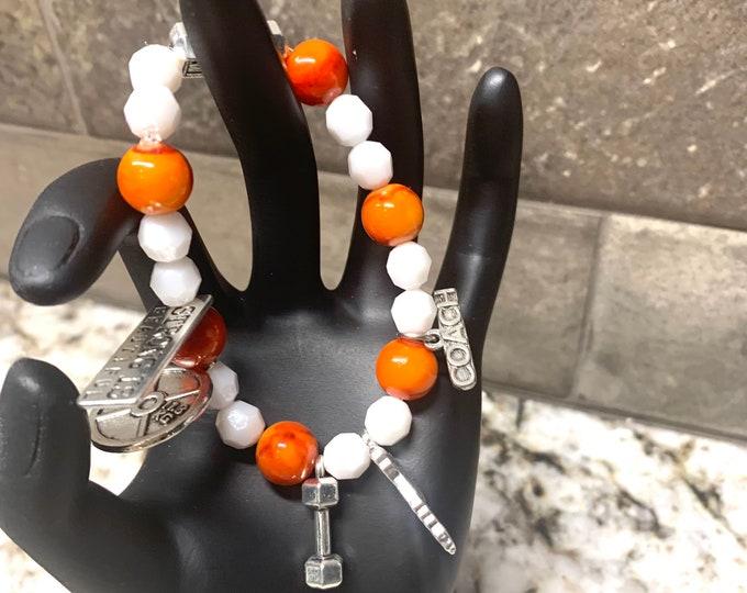 Strong is Beautiful/ Orangetheory bracelet