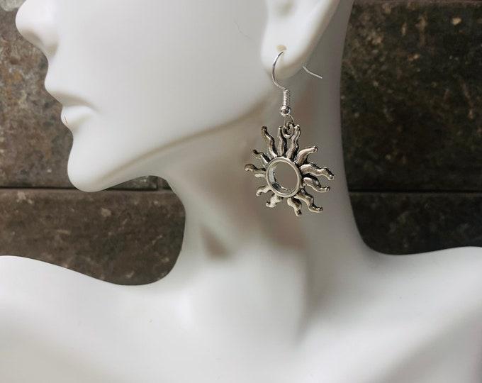 Silver Colored Sunshine Earrings