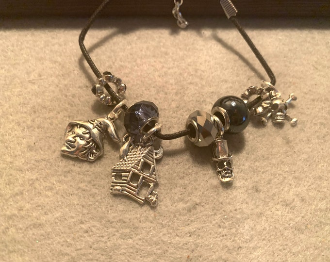 Halloween Charm Bracelet with Silver Charms