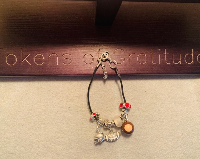 Buckeye Charm Bracelet with pictured charms