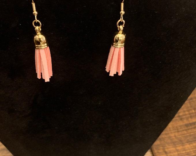 Pink dangle/drop tassel earrings