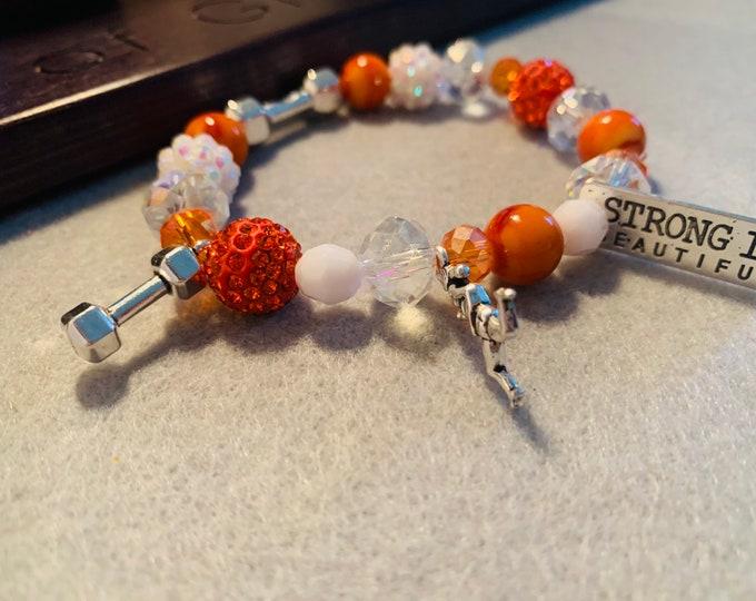Fitness/ Strength stretch bracelet (in any color scheme)