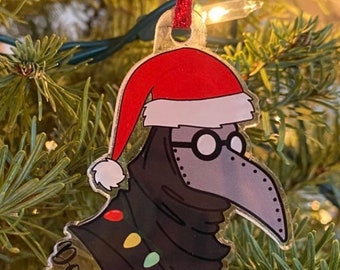 CLEARANCE Plague Doctor Ornament | 2020 Ornament | Christmas Tree Ornament