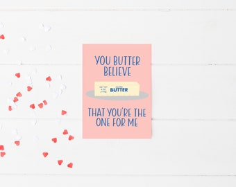 You're the One for Me Card | Food Pun Card | Valentine's Day Card | Valentine