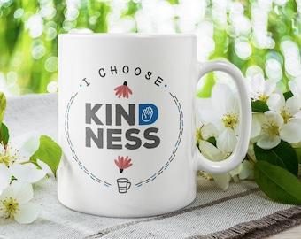 I Choose Kindness mug | motivation | positive | gift for her | mindfulness | loa | gift mug