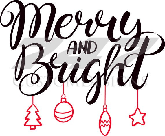 Merry And Bright Svg Christmas Svg Etsy