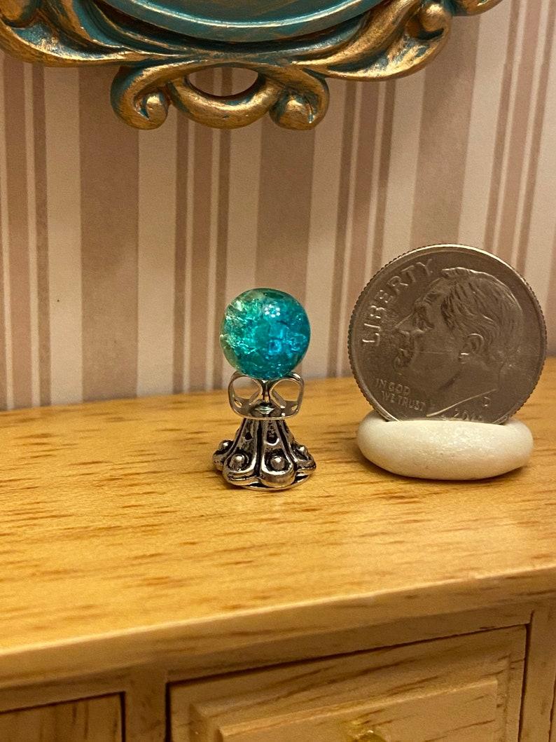Miniature Dollhouse Fairy Garden Crystal Ball; 1:12 scale