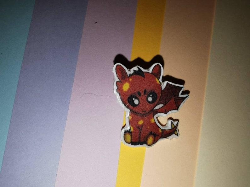 Dragon Design Pin Badges